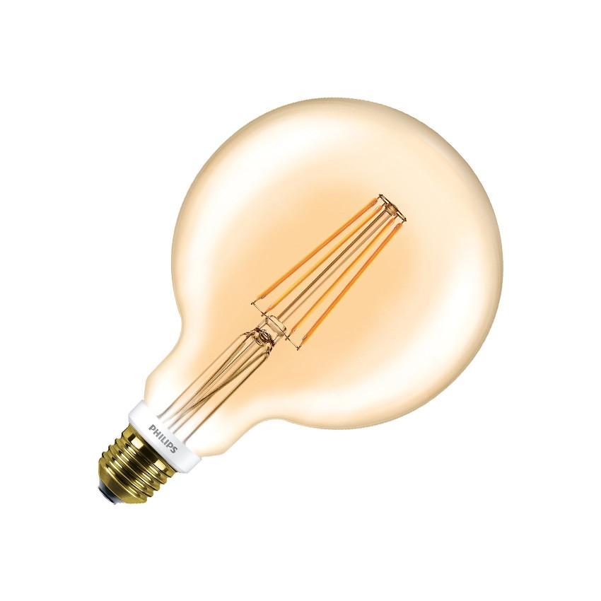 LED Lampe E27 G120 Philips Dimmbar Filament Globe CLA 7W Gold ...