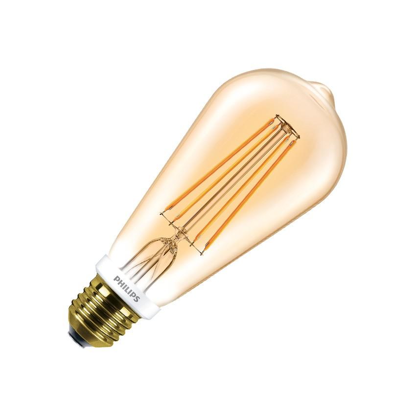 LED Lampe E27 Dimmbar Filament Philips CLA ST64 7W Gold - Ledkia ...