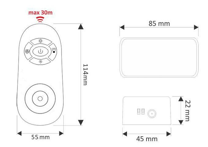 touchcontroller led rgb 12    24v dimmer  u00fcber rf