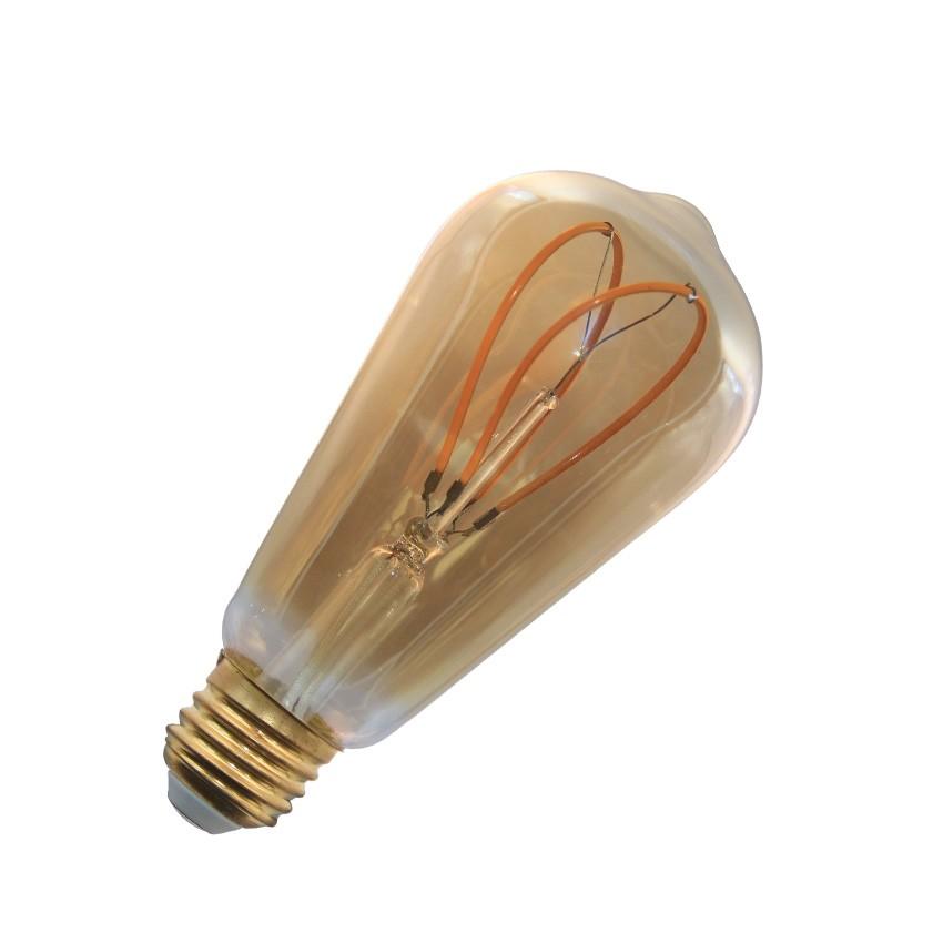 led lampe e27 filament dimmbar gold big lemon st64 4w ledkia deutschland. Black Bedroom Furniture Sets. Home Design Ideas