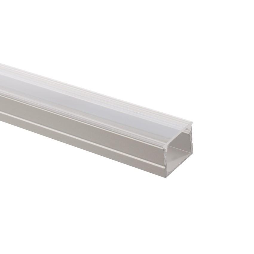 Aluminiumperfil mit durchgehender Abdeckung für LED-Streifen 220V AC RGB nach Mass Schnitt alle 100cm