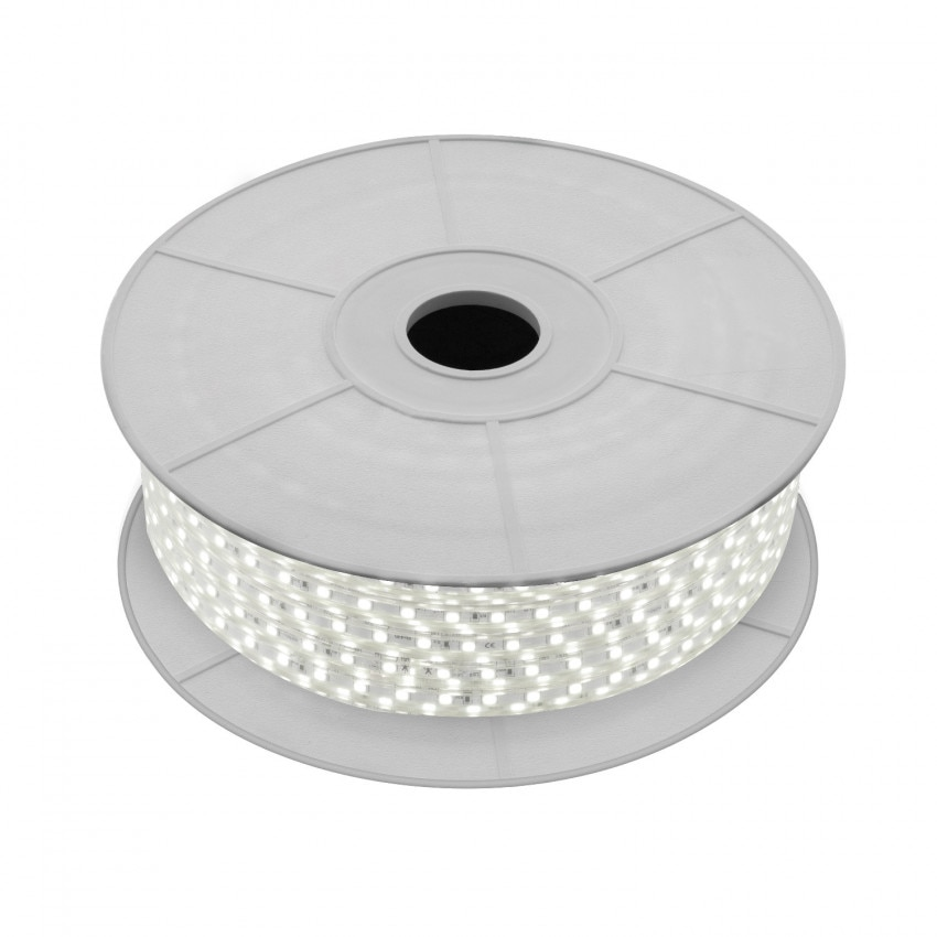 LED-Streifenrolle 220V AC 120 LED/m Neutrales Weiss IP65 Schnitt alle 50cm