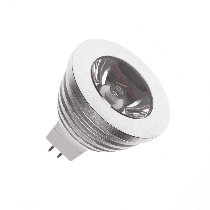 LED-Lampe GU5.3/MR16 60º RGB 3W 12V DC - Ledkia Deutschland