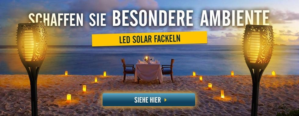 LED Fackel Solar Flammeneffekt mit Spieß