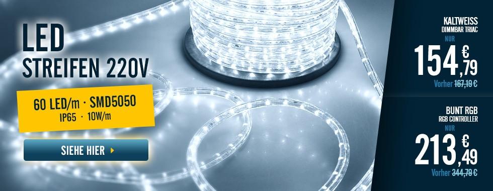 Streifenrolle LED 220V AC
