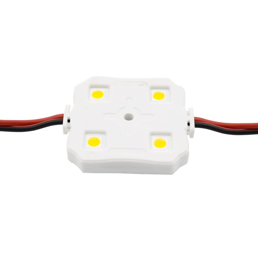 Chaîne de 20 Modules Carrés de 4 LEDs SMD5050 24V 1W