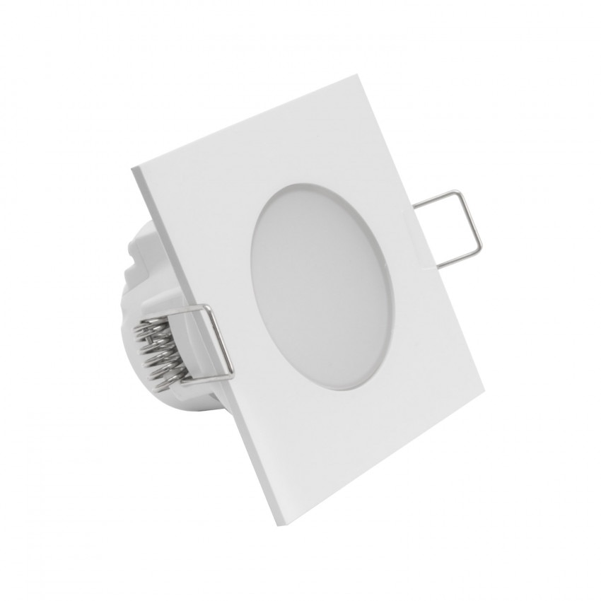 Downlight LED Carré Waterproof IP54 5W Coupe Ø 65mm