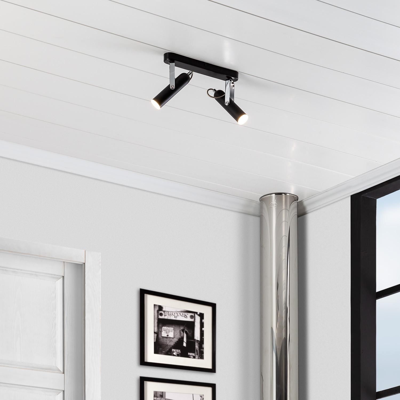 Foco LED Orientable Big Quvu 2x4W Negro