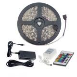 Kit Ruban LED 48W 60LED/m 5m IP65 RGB avec Télécommande, Contrôleur et Bloc d'Alimentation
