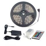 Kit Rubans LED 48W 60LED/m 5m IP20 RGB avec Télécommande, Contrôleur et Bloc d'Alimentation