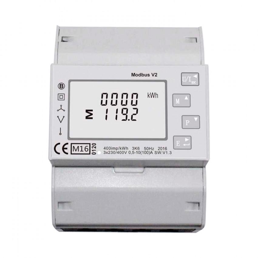 Compteur d'Énergie Bidirectionnel Monophasé/Triphasé Direct MAXGE 100A