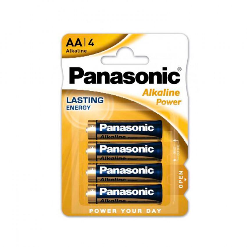Blister 4 Piles Alcalines Panasonic AA LR06 1,5 V