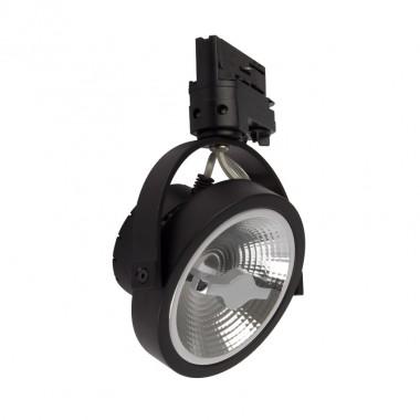Spot LED Cree AR111 15W Noir Dimmable pour Rail Triphasé