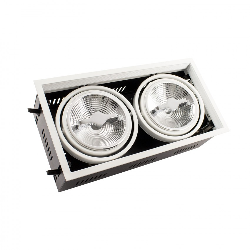 Spot Downlight LED CREE-COB Orientable AR111 30W Dimmable Coupe 315x155mm