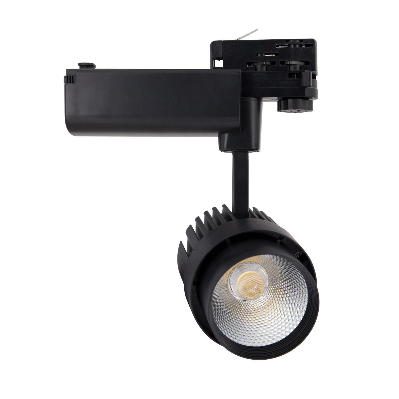 Spot LED Dora 30W Noir pour Rail Triphasé