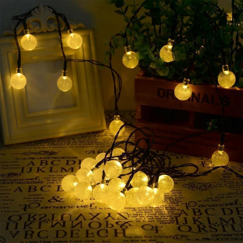 Guirlande 30 Boules LED avec Chargeur Solaire
