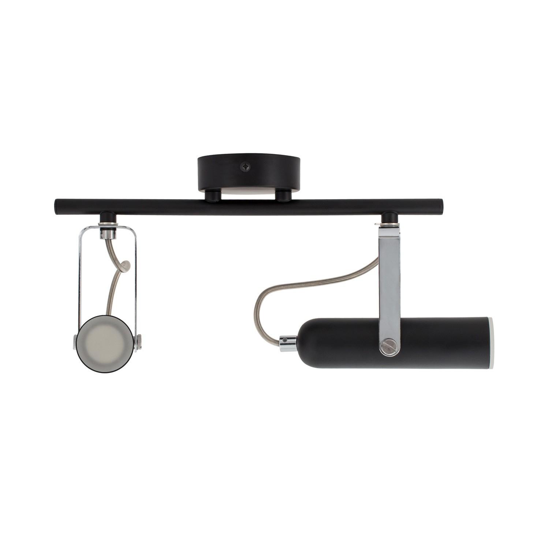 Foco LED Orientable Quvu 2x4W Negro