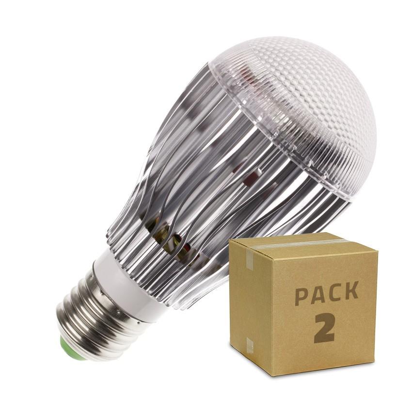 pack ampoule led e27 rgb 9w 2 un ledkia. Black Bedroom Furniture Sets. Home Design Ideas