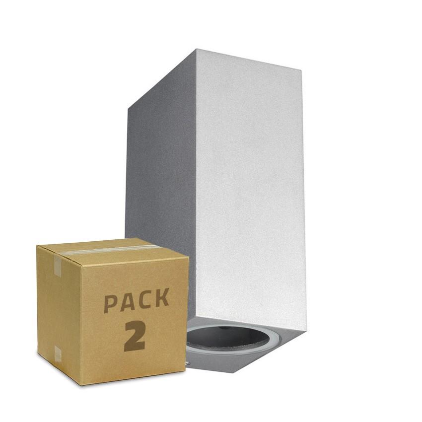 Pack Applique Miseno Argentée Éclairage Double Face (2 Un)