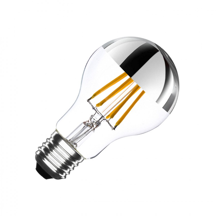 Ampoule LED E27 Dimmable Filament Chrome Reflect Classic A60 6W