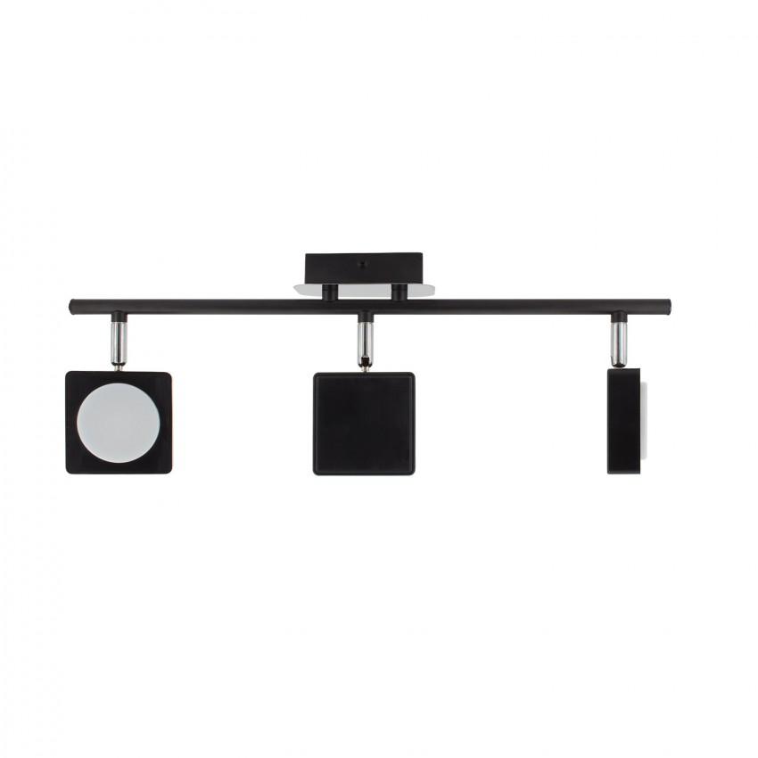 lampe led plafond orientable capri 3 spots 18w noir. Black Bedroom Furniture Sets. Home Design Ideas