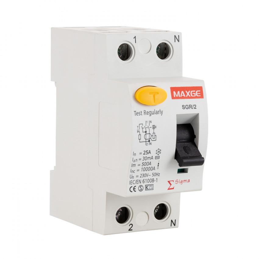 Interrupteur différentiel Résidentiel MAXGE 2P-300mA-Clase AC-10kA