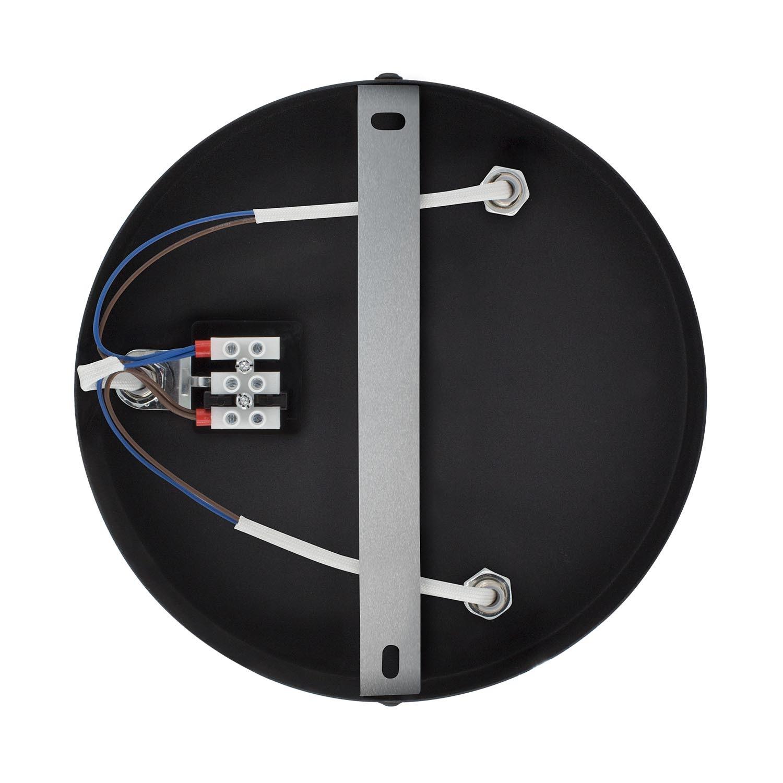 lampe de plafond ronde orientable tivo 3 spots noir ledkia. Black Bedroom Furniture Sets. Home Design Ideas