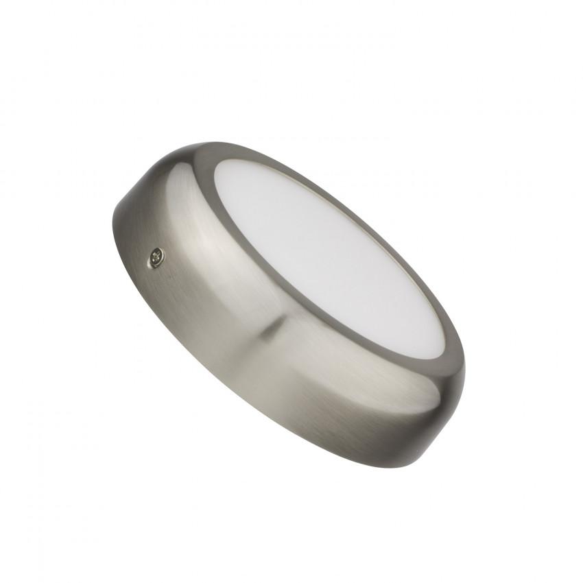 Plafonnier LED Rond Design 12W Silver