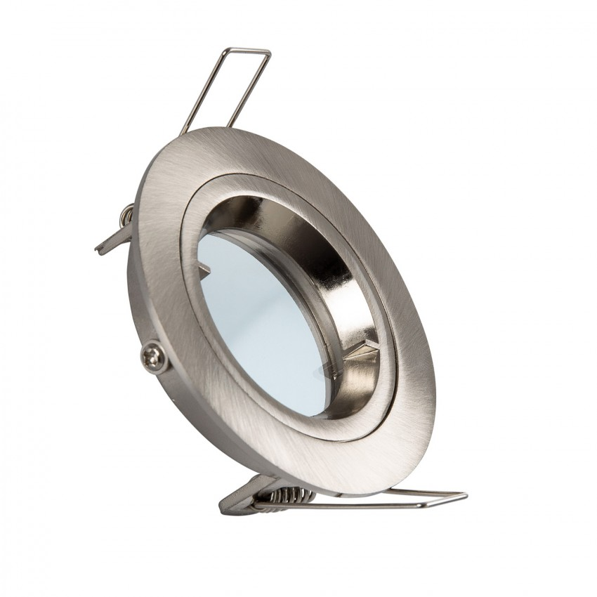 Collerette Ronde Downlight Argentée pour Ampoule LED GU10 / GU5.3