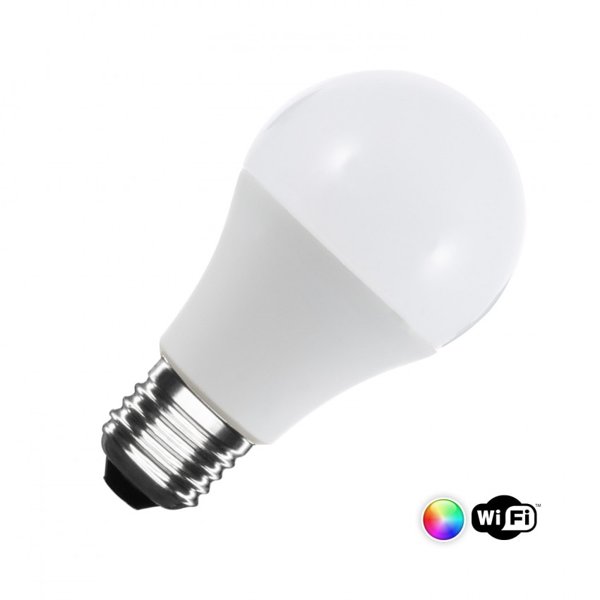 Ampoule LED E27 Smart WiFi E27 A60 Dimmable RGBW 6W