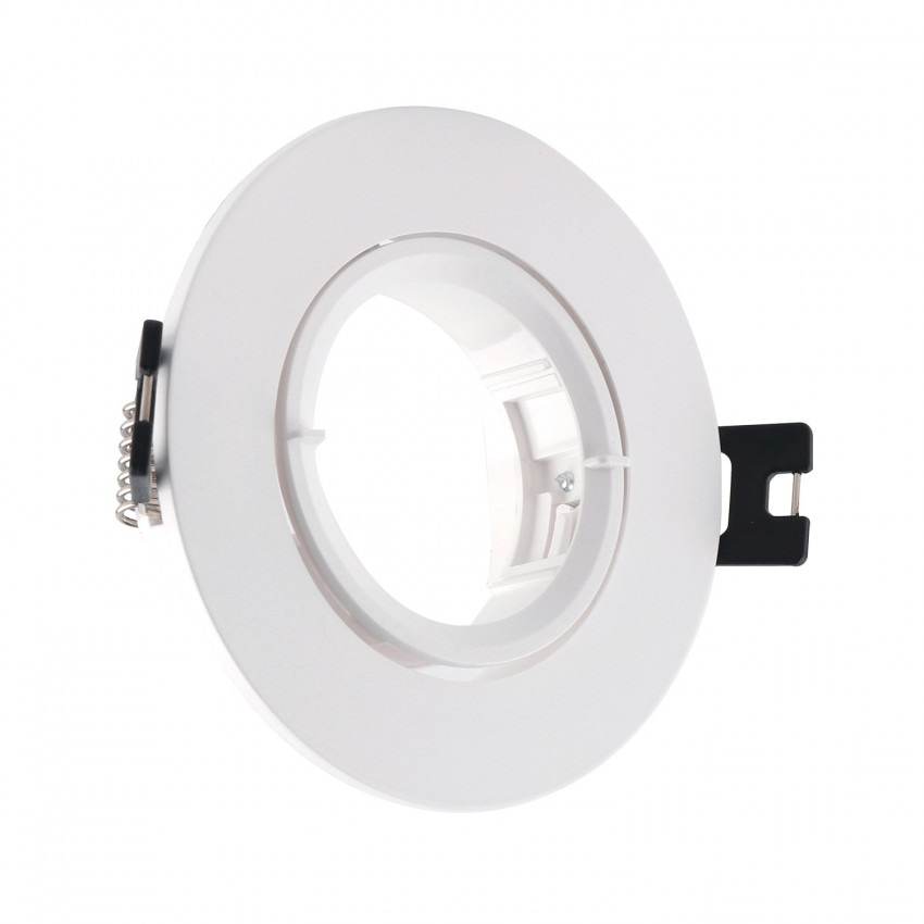 Collerette Ronde PC pour Ampoule LED GU10 / GU5.3