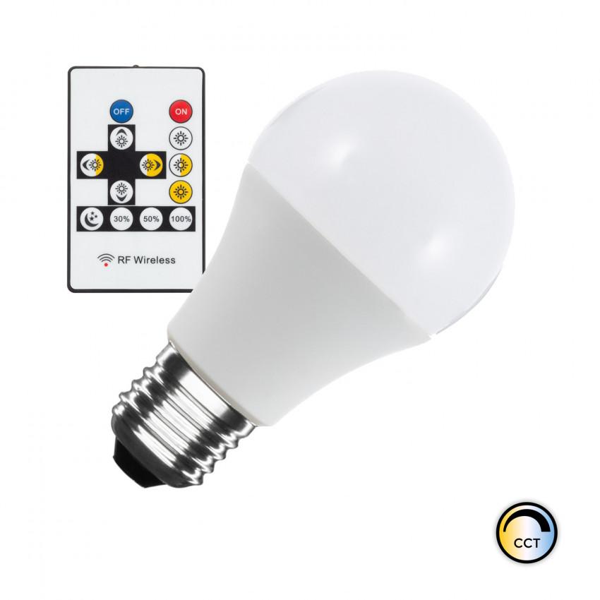 Ampoule LED CCT Sélectionnable E27 Dimmable A60 9W