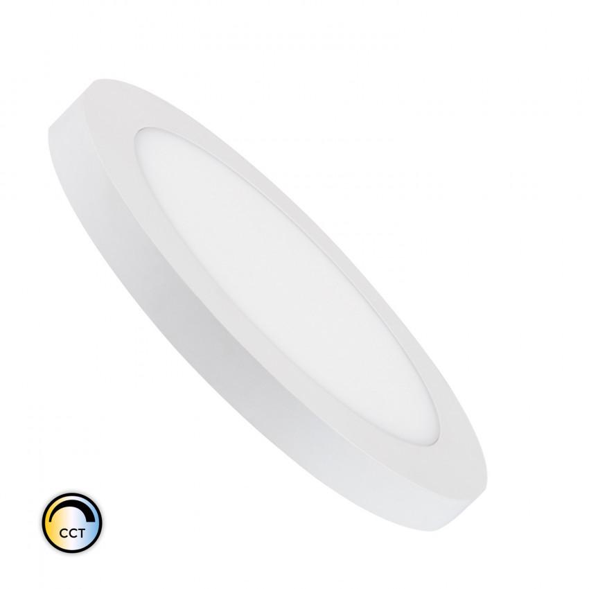 Dalle LED Ronde CCT Sélectionnable 22W Coupe Ajustable Ø 60-160 mm