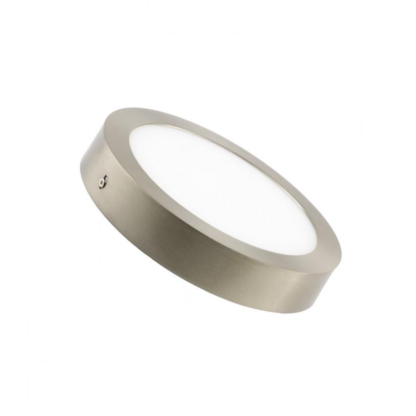 Plafonnier LED Rond 18W Argenté