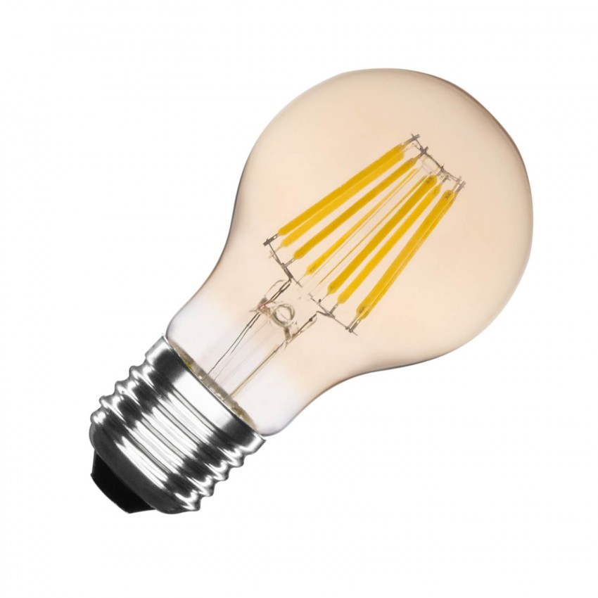 Ampoule LED E27 Filament Gold Classic A60 6W