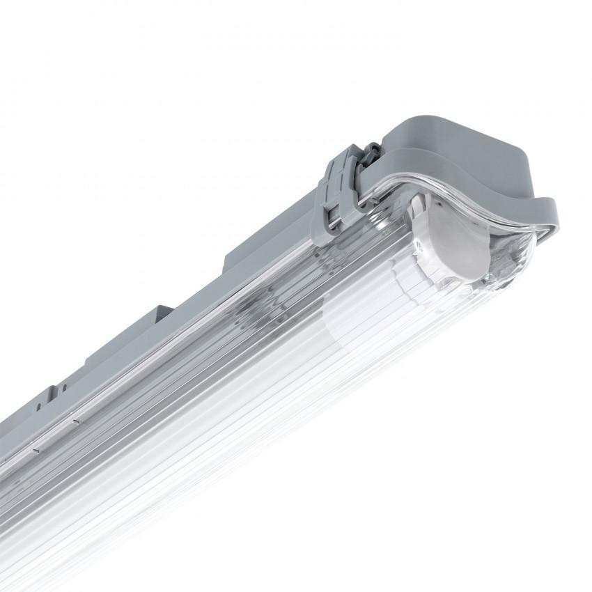Réglette Étanche Slim pour un Tube LED 600mm PC/PC Connexion Latérale
