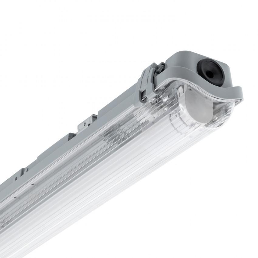 Réglette Étanche Slim pour un Tube LED 1500mm PC/PC Connexion Latérale