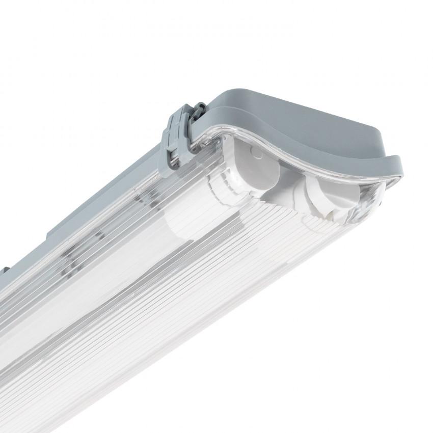 Réglette Étanche Slim pour deux Tubes LED 1200mm PC/PC Connexion Latérale