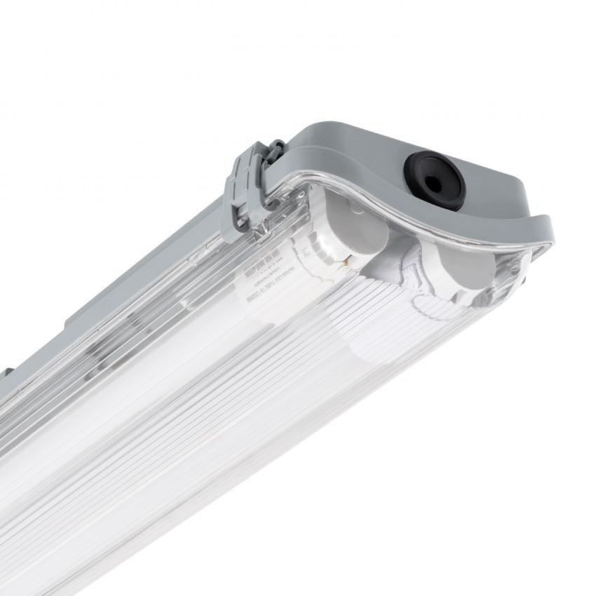 Kit Réglette Étanche Slim avec 2 Tubes LED T8 1200mm Connexion Latérale