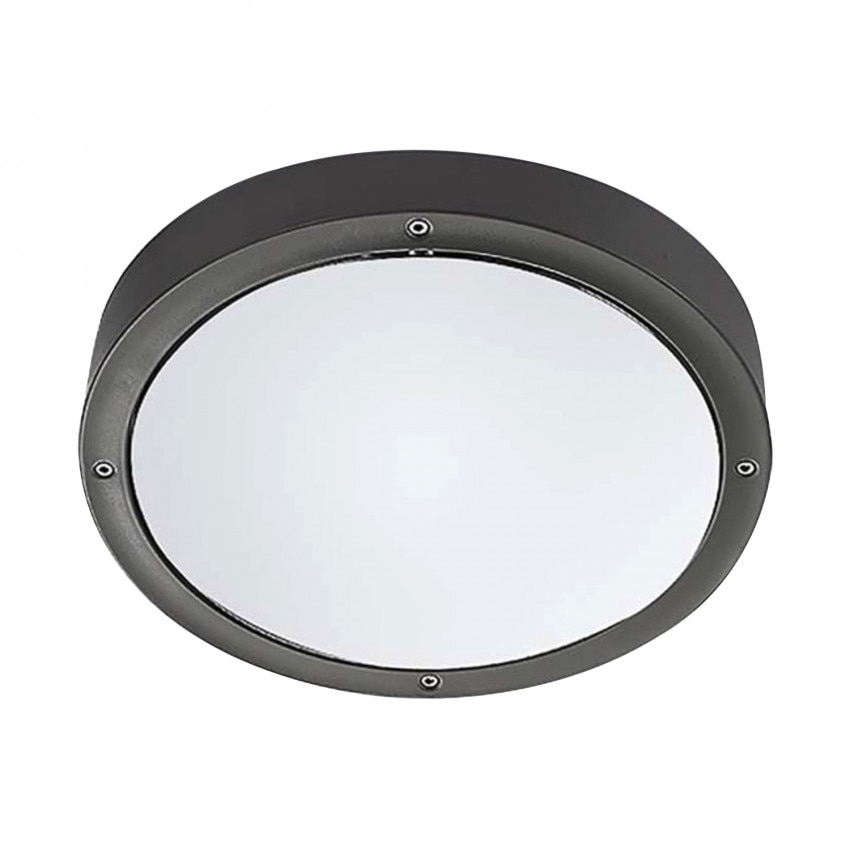 Plafonnier LED Basic Aluminium Gris Urbain 14.5W IP65 LEDS-C4 15-9835-Z5-CL