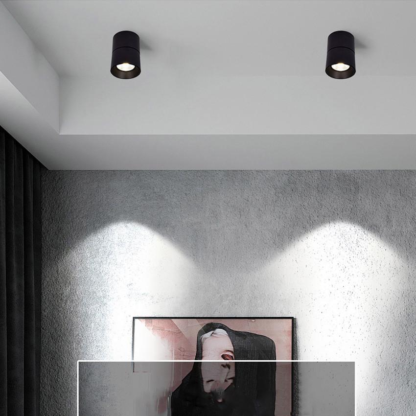 Applique LED New Onuba 15W Ronde Noire