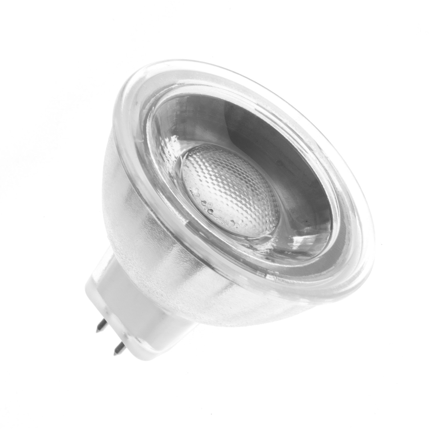 Ampoule led gu5 3 mr16 cob cristal 220v 45 5w ledkia for Lampade led 220v
