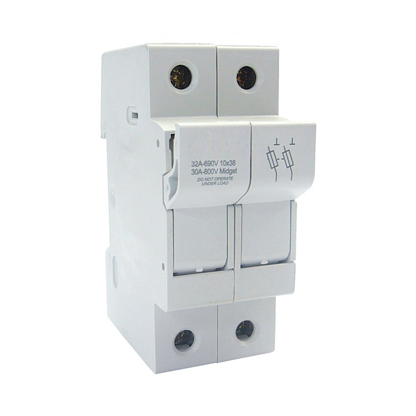 Porte-fusibles Sectionnable 10x38mm 500V Máx 32A MAXGE