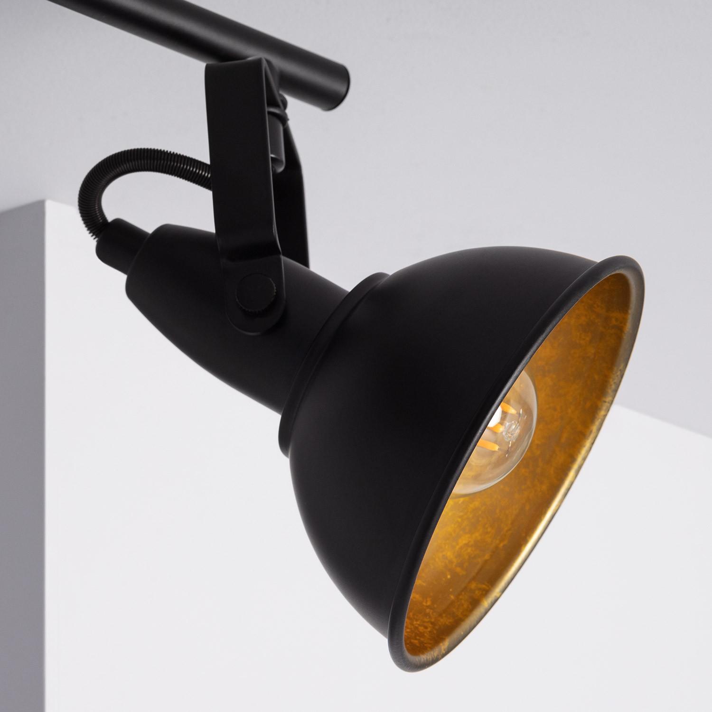Foco Orientable Emer 3x Negro