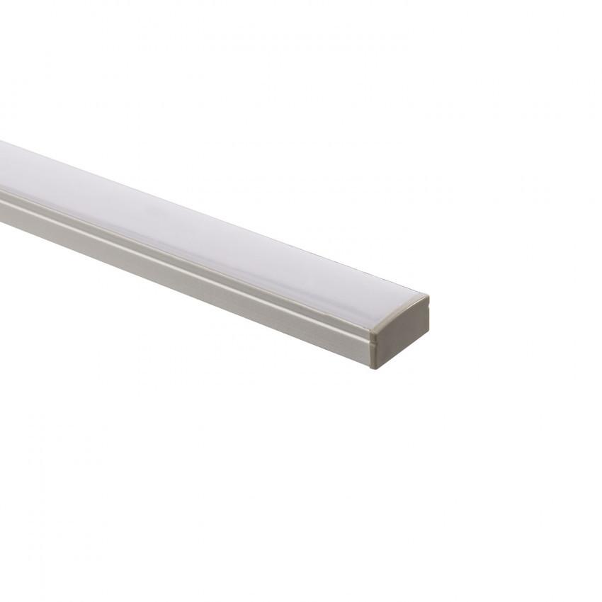 Profilé Aluminium en Saillie avec Capot Continu pour Ruban LED