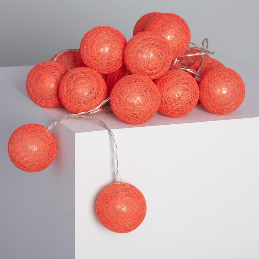 Guirlande LED 20 Boules Red Sugar 3.15m/4.35m