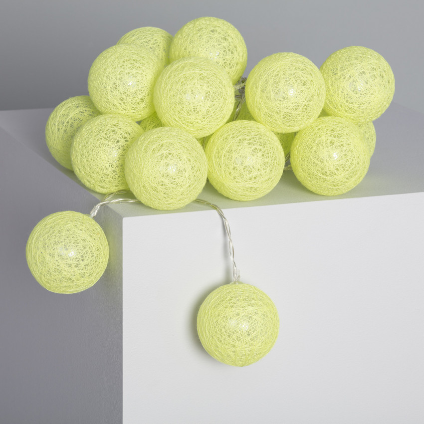 Guirlande LED 20 Boules Lemon 3.15m/4.35m