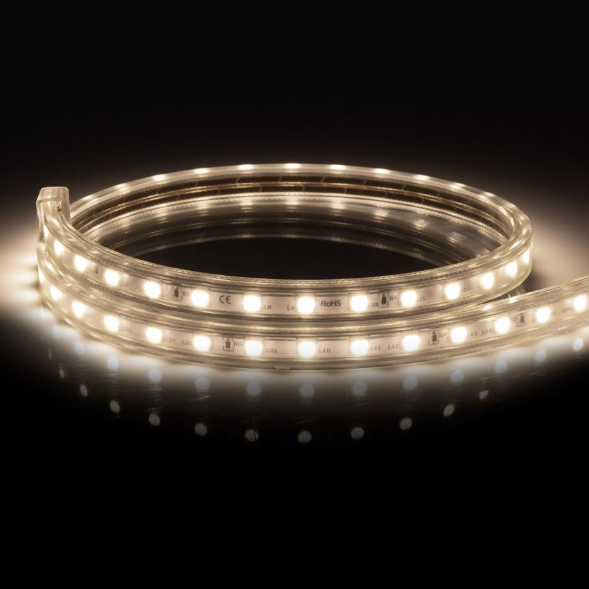 Ruban LED Dimmable 220V AC 60 LED/m Blanc Neutre IP65 sur Mesure Coupe Tous les 100cm