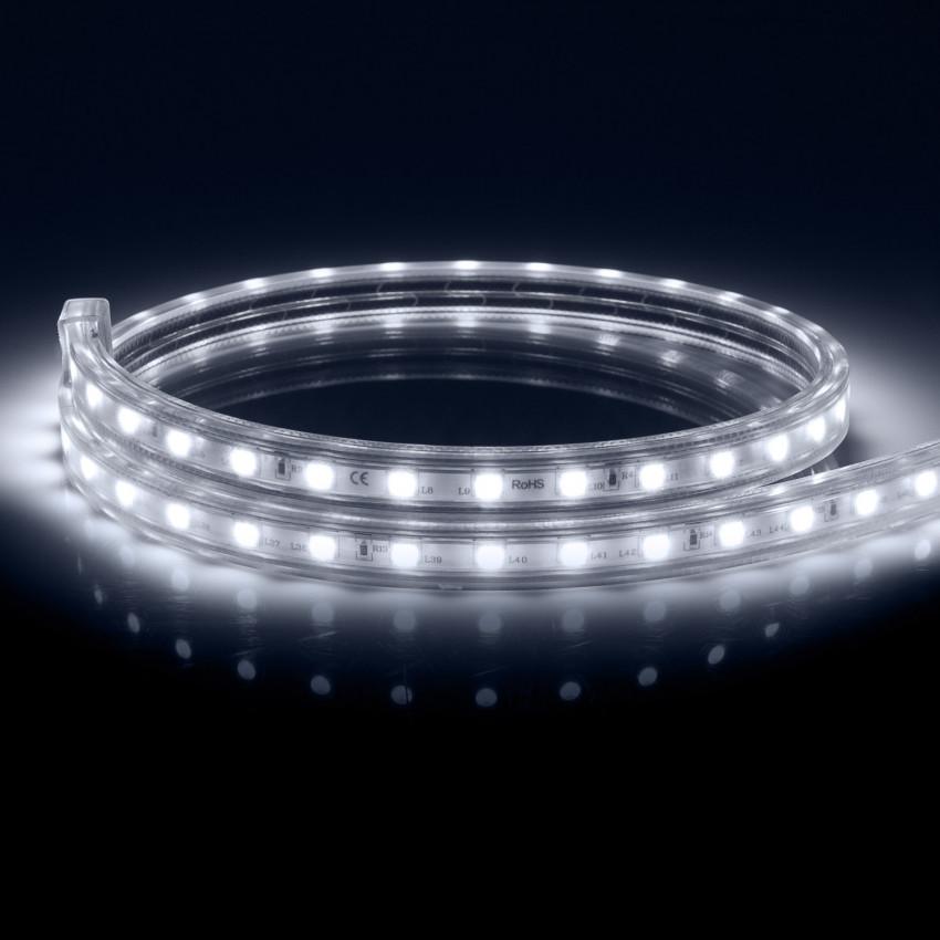 Ruban LED Dimmable 220V AC 60 LED/m Blanc Froid IP65 sur Mesure Coupe Tous les 100cm