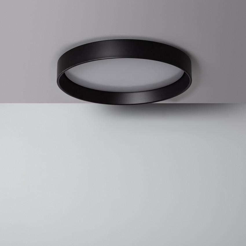 Plafonnier LED Rond CCT Sélectionnable Design 30W Black